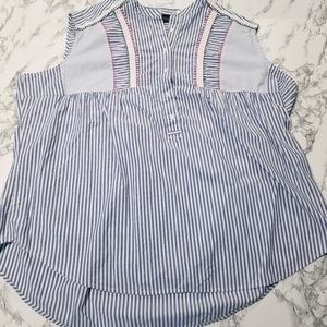 💘 Lane Bryant Striped Sleeveless Blouse